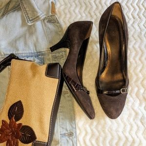 Loft Suede leather high heel shoes